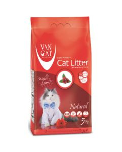 Van Cat White Bentonite Clumping Cat Litter Unscented 5Kg