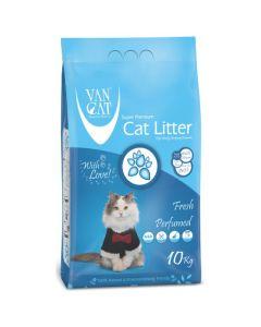 Van Cat White Clumping Bentonite Cat Litter Fresh 10Kg