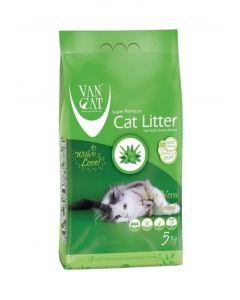 Van Cat White Clumping Bentonite Cat Litter Aloe Vera 5KG