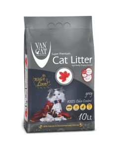 Van Cat White Clumping Bentonite Cat Litter Grey 10 KG
