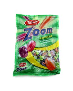 TIFFANY ZOOM ASSORTED FRUIT FLAVOURED CANDY DROPS