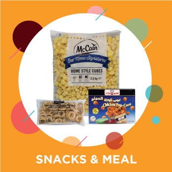 Evening snacks and meals from online supermarket in Dubai